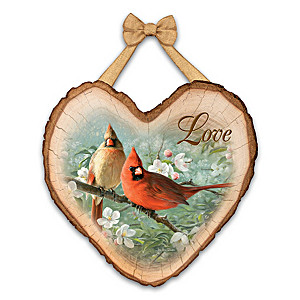 "Joe Hautman Cardinal Art ""Love"" Wall Plaque"