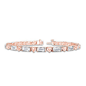 """""""Healing Reflections"""" Copper-Plated Bracelet With Crystals"""