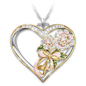 Mother Remembrance Pendant Necklace With 18K-Gold Plating
