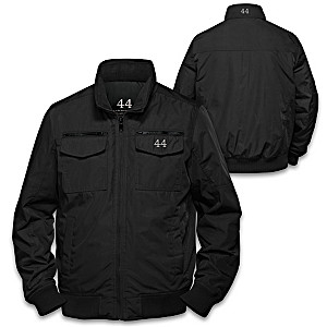 Barack Obama Men's Nylon Jacket With Farewell Speech Excerpt