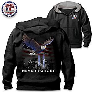 """Never Forget"" 9/11 Commemorative Men's Hoodie"