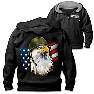 American Freedom Fighter Men's Hooded Jacket
