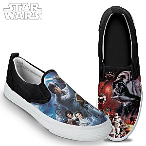 """STAR WARS Classic Trilogy"" Men's Canvas Slip-On Shoes"