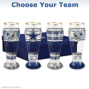 NFL Four-Piece Pilsner Glass Set: Choose Your Team