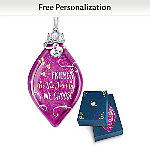 Illuminated Glass Ornament Personalized For Friend