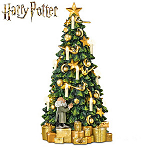HARRY POTTER HOGWARTS Illuminated Musical Tabletop Tree