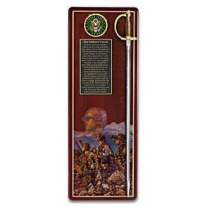 """America's Heroes"" Army Tribute Wall Decor"