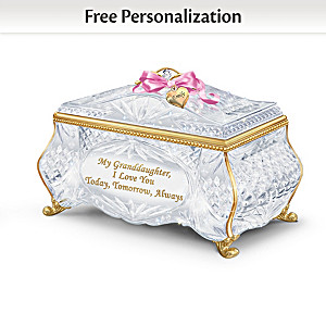 """""""Facets Of Love"""" Personalized Music Box For Granddaughter"""