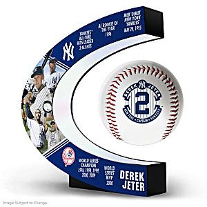 Derek Jeter Levitating Baseball Lights Up And Spins