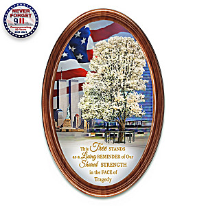 """9/11 Survivor Tree"" Patriotic Framed Collector Plate"