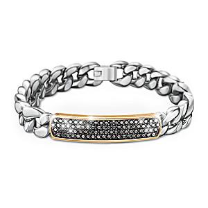 """Million Dollar Man"" Black Sapphire Chain Link Bracelet"