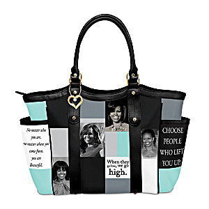 """Becoming You"" Michelle Obama Inspired Shoulder Tote Handbag"
