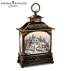 Thomas Kinkade Illuminated Village Snowglobe Lantern
