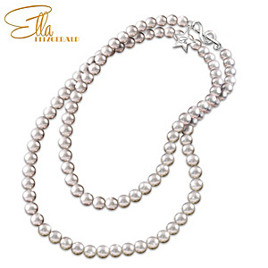 38-Inch Simulated Pearl Necklace Inspired By Ella Fitzgerald