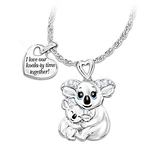 """Koala-ty Time"" Pendant Necklace With Swarovski Crystals"
