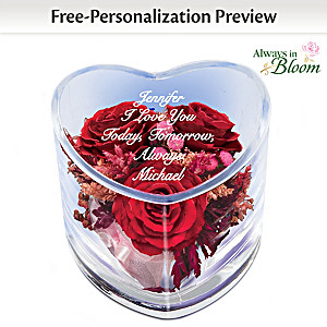 """True Love Is Forever"" Personalized Floral Table Centerpiece"