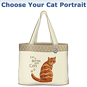 """Life Is Better With Cats"" Tote Bag: Choose Your Breed"