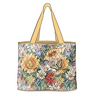 """""""Sunflower Splendor"""" Tote Bag With Lena Liu Artwork"""