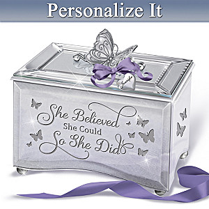 """Strong Women"" Music Box With Personalized Charm"