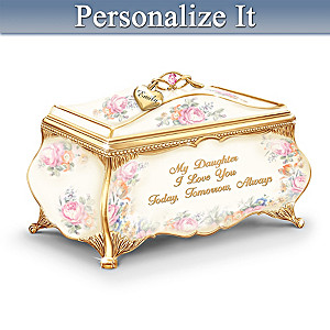 """Sweetest Daughter"" Porcelain Music Box"