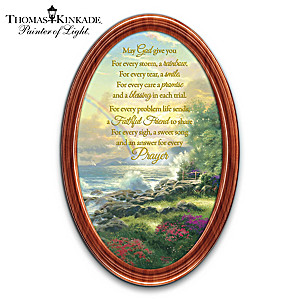 "Thomas Kinkade ""God's Blessings"" Framed Collector Plate"