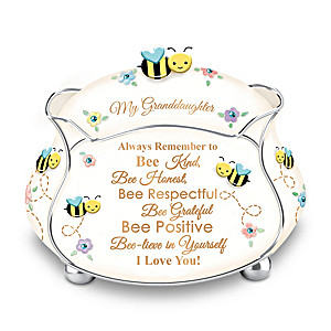 """Bee-lieve In Yourself"" Granddaughter Porcelain Music Box"