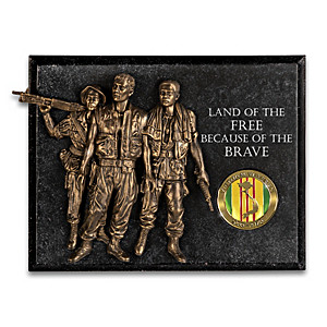 Sculptural Brotherhood Wall Decor Honors Vietnam Veterans