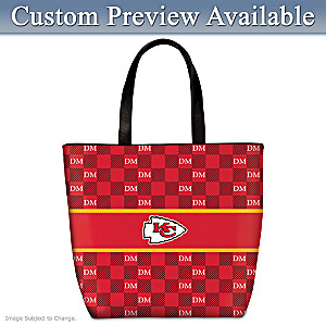 Chiefs Tote With Your Initials In A Designer Print