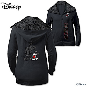 """Disney """"Forever Mickey Mouse"""" Cotton-Blend Women's Hoodie"""