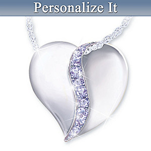 Personalized Swarovski Crystal Birthstone Pendant Necklace