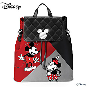 Disney Mickey Mouse & Minnie Mouse Convertible Backpack