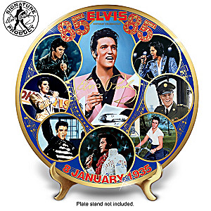 Elvis Presley 85th Birthday Porcelain Collector Plate
