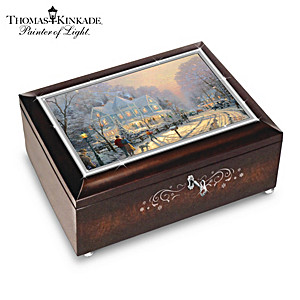 "Thomas Kinkade ""A Holiday Gathering"" Christmas Music Box"
