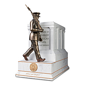 """Tomb Of The Unknown Soldier"" Marbleized-Finish Sculpture"