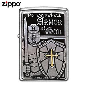"""""""Armor Of God"""" Zippo® Lighter"""