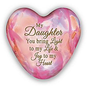 """Daughter, You Light Up My Life"" Illuminated Glass Keepsake"