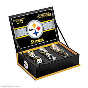 Pittsburgh Steelers Six-Piece Shot Glass Gift Set With Box