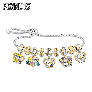 PEANUTS Be Friends Beaded Charm Bracelet