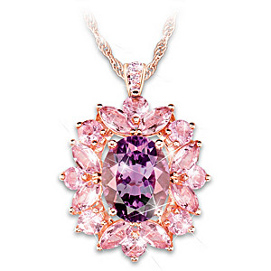 """Amethyst Radiance"" Pendant Necklace With Over 2.5 Carats"