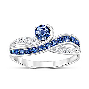 """Serene Beauty"" 2-Carat Blue And White Sapphire Ring"