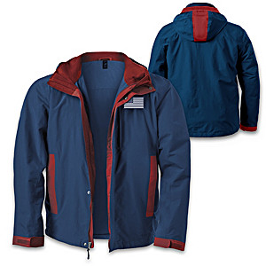 """""""United We Stand"""" 3-In-1 Convertible Men's Jacket"""