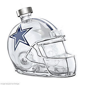 Dallas Cowboys Glass Helmet Decanter