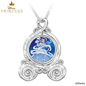 """Cinderella """"Dreams Come True"""" Spinning Pendant With Crystals"""