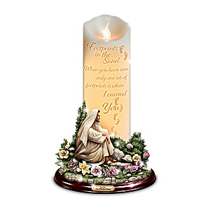 "Greg Olsen ""I Am With You Always"" Flameless Candle"