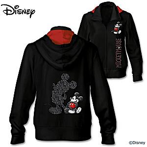 Disney Mickey Mouse Front Zip Women's Hoodie