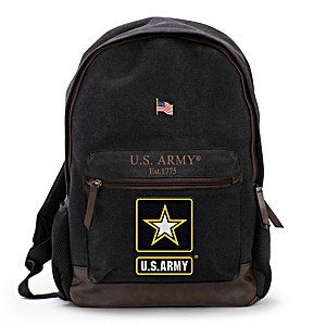U.S. Army Canvas Backpack With Free American Flag Pin