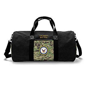 U.S. Navy Woodland Camo Canvas Duffel Bag