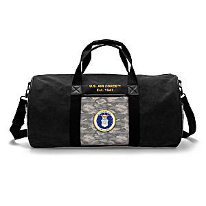 U.S. Air Force Camo Canvas Duffel Bag