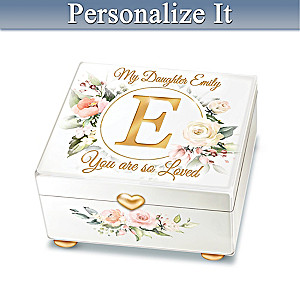 """You Are So Loved"" Personalized Music Box For Daughter"