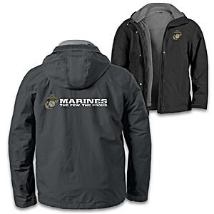 """U.S. Marines Pride"" Men's 3-In-1 Convertible Jacket"